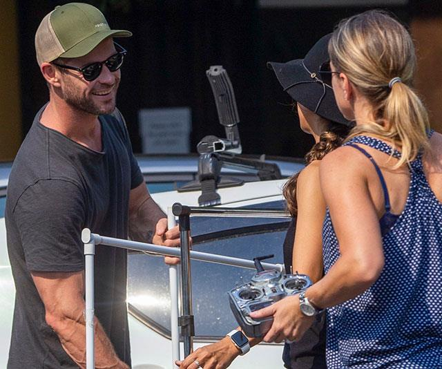 EXCLUSIVE PICS: One of them! Chris Hemsworth gets friendly with Byron Bay locals