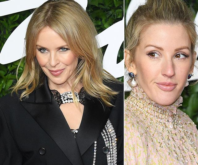 Kylie Minogue and Ellie Goulding steal the show with their unexpected (and unique!) ensembles at the 2019 Fashion Awards