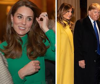 Duchess Catherine holds her own in a stunning green dress during reception with Donald Trump