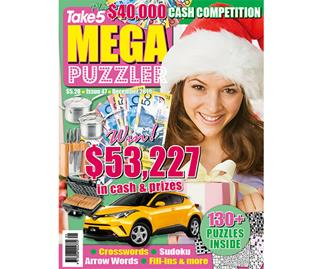 Take 5 Mega Puzzler Issue 47 Online Entry Coupon