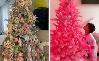 From traditional to lavishly OTT: A look at all your favourite celebrities' Christmas trees