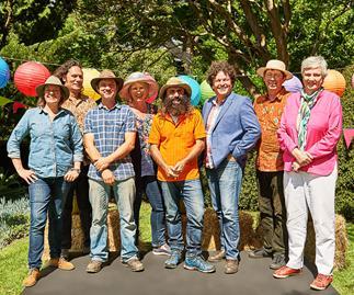 Costa Georgiadis and the Gardening Australia team celebrate Christmas