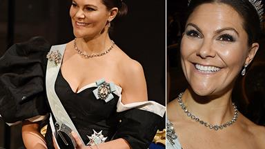 Crown Princess Victoria turns heads in a striking, dramatic gown for Nobel Prize ceremony