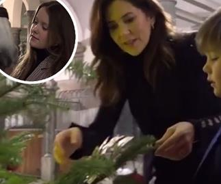 Crown Princess Mary shares a rare glimpse of her family with a Christmas video - and her daughter is her mini-me!