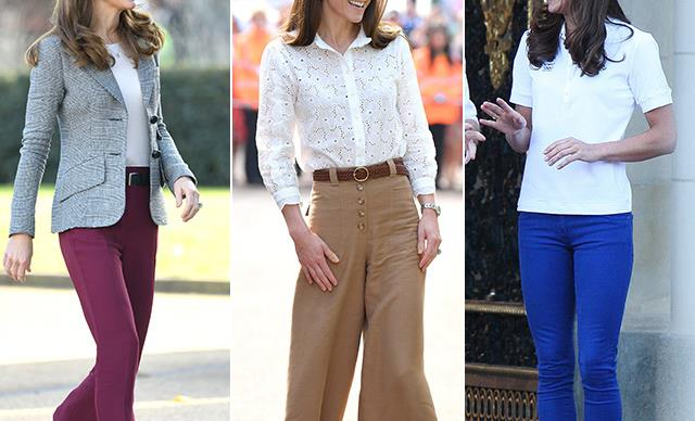 From wide-legged glory days to skinny jean dreams - Kate Middleton's best style moments in pants