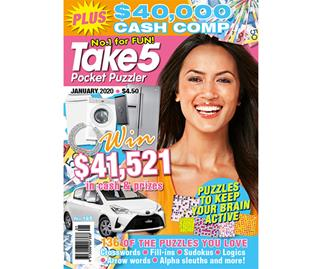 Take 5 Pocket Puzzler Issue 185 Online Entry Coupon