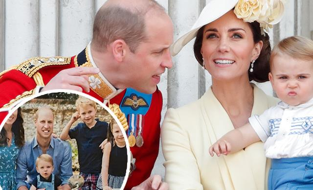 The Cambridges' annual Christmas card photo has been leaked - and it features Prince Louis on a motorbike!