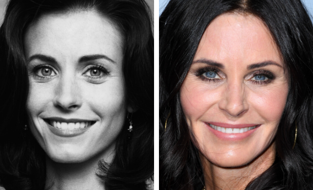 Courteney Cox's plastic surgery transformation