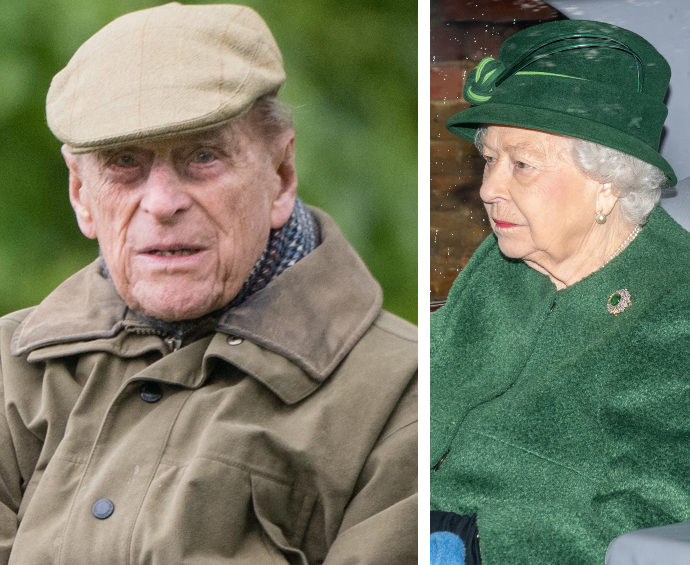 Prince Philip remains in hospital while the Queen attends church in Sandringham