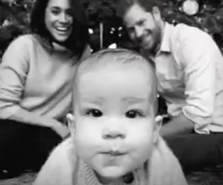 Prince Harry and Duchess Meghan's Christmas card features baby Archie- but in GIF form