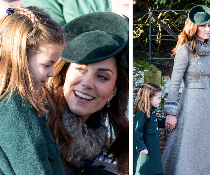 Kate managed to subtly twin with Princess Charlotte on Christmas Day without anyone noticing