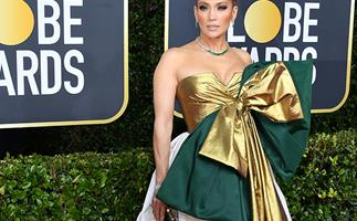 The Internet has lost it over JLo's extravagant Golden Globes dress- and it's not hard to see why