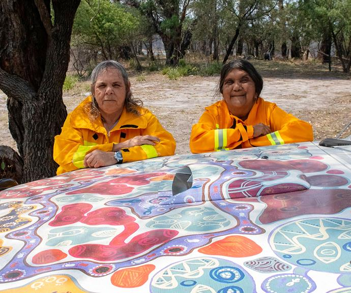 52-year-old Charmaine Sellings heads up Australia's first all-Indigenous, all-female fire brigade.