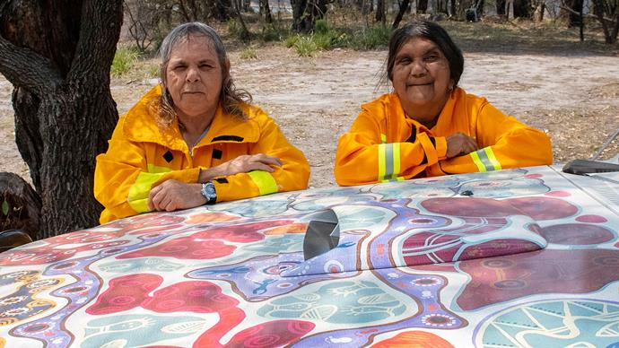 Meet the all-female Indigenous fire crew protecting community, family and sacred land