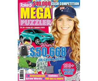 Take 5 Mega Puzzler Issue 48 Online Entry Coupon