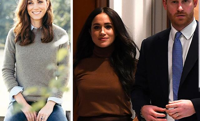 Palace drops unseen picture of Kate Middleton in the aftermath of Harry and Meghan's shock announcement