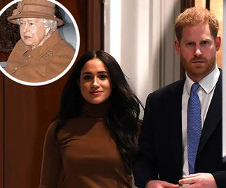 Meghan & Harry go before the Queen, Charles and William in unprecedented crisis meeting