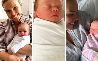 The cutest photos of Sunrise newsreader Edwina Bartholomew's adorable newborn baby
