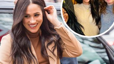 Meghan Markle pictured surprising a women's centre in Vancouver - her first public sighting since stepping back