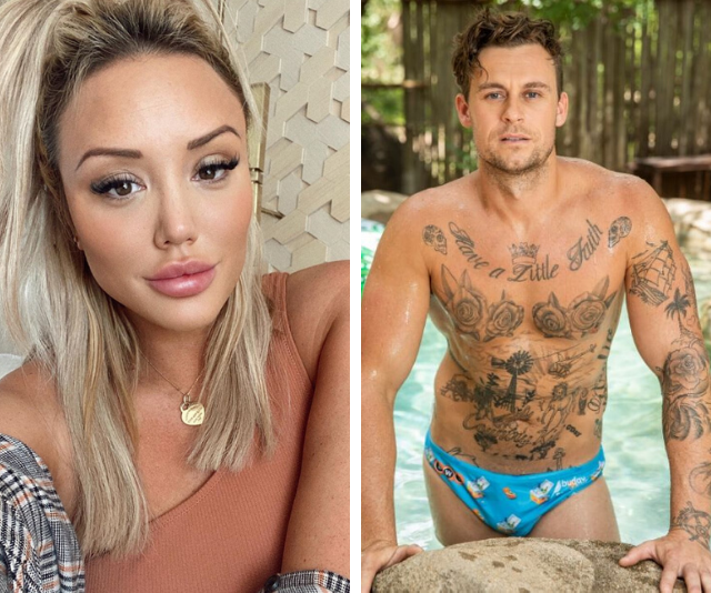 It's back on! Charlotte Crosby and Ryan Gallagher share a steamy kiss on I'm A Celeb as romance heats up