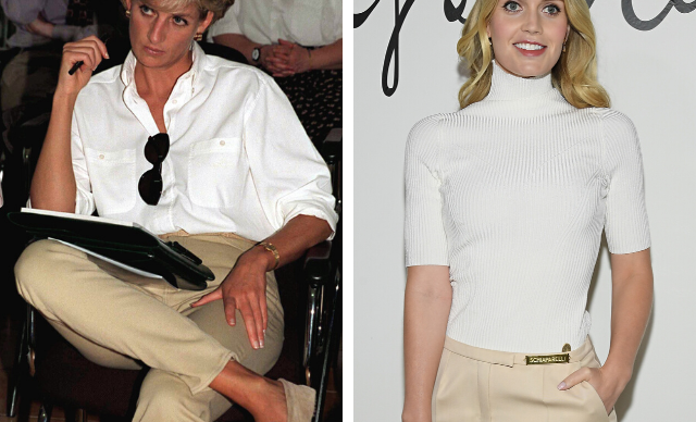 Lady Kitty Spencer channels her aunt Princess Diana in simple and practical chic outfit at Paris Fashion Week