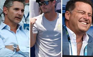 Serving up the stars: All the celebs biting their nails through the 2020 Aussie Open