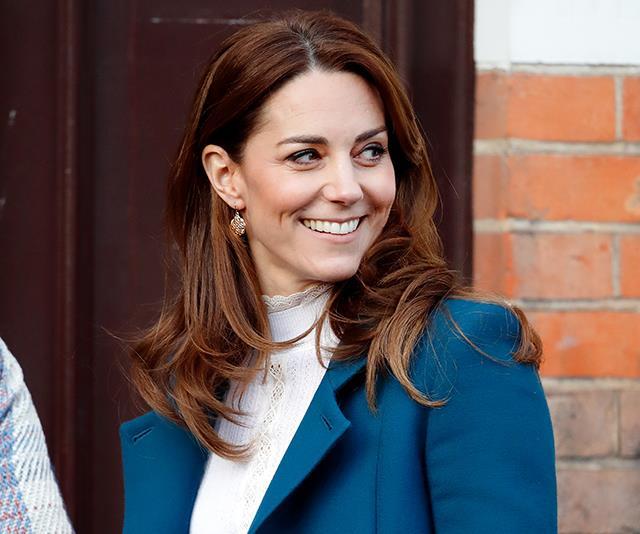 Duchess Catherine surprises nursery children to serve breakfast in heavenly blue coat