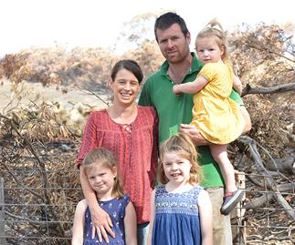 REBUILD OUR TOWNS: Thanks to an army of angels, this bushfire affected family are hopeful once more