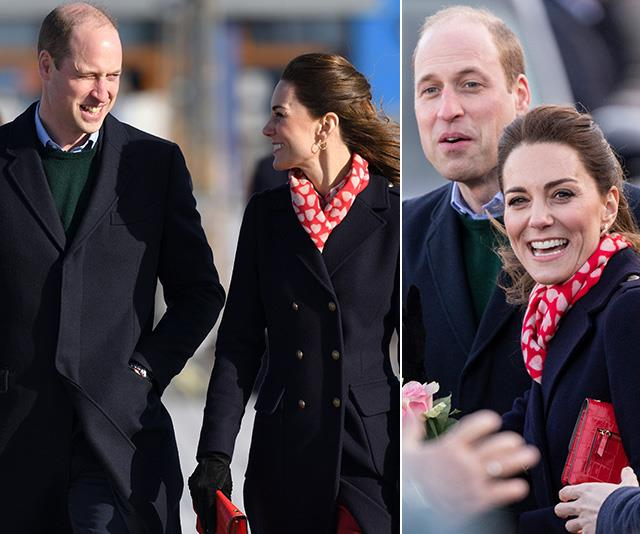 Kate & Wills return to the seaside town where they lived during their early years of marriage - and prove they're more in love than ever