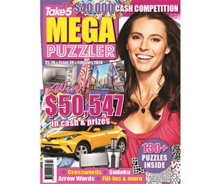 Take 5 Mega Puzzler Issue 49 Online Entry Coupon