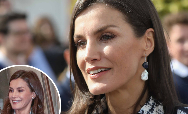 Queen Letizia of Spain stuns in a recycled chic leopard print outfit