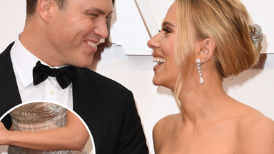 People think Scarlett Johansson is pregnant because of her very normal-looking stomach at the Oscars