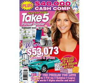 Take 5 Pocket Puzzler Issue 186 Online Entry Coupon