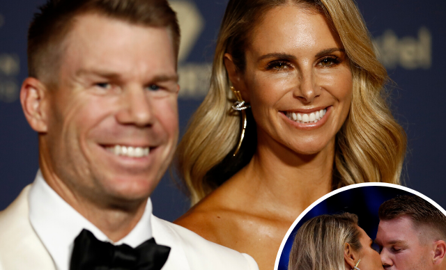 Candice and David Warner's emotional tributes to each other at glamorous awards show