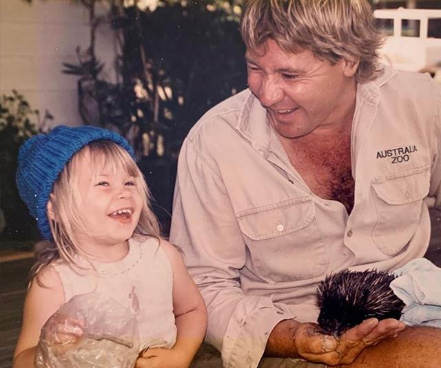 Bindi posted this sweet throwback photo of herself and her Dad.