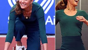 Duchess Catherine gets sporty in a pair of $11 Zara culottes - and she pulls them off like a pro