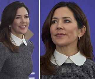 Crown Princess Mary wears the perfect transeasonal dress as she touches back down in Denmark