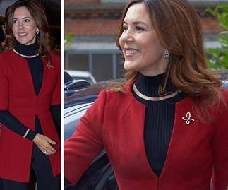 Crown Princess Mary just wore the chicest pant suit - with a fashion-forward twist