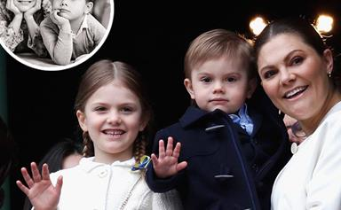Prince Oscar of Sweden celebrates his fourth birthday with a heavenly photo shoot featuring his big sister