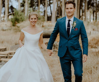 Home and Away stars Jessica Grace Smith and Benedict Wall tie the knot after 10 years together