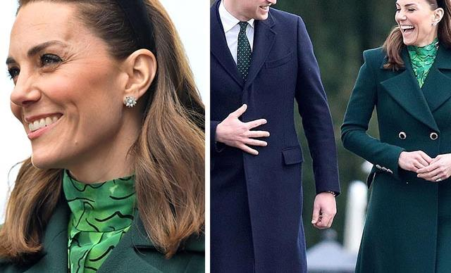Duchess Catherine debuts a new haircut and rocks her favourite Zara headband as she and Wills commence three-day tour of Ireland