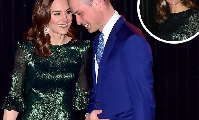 Duchess Catherine makes a quick turnaround in a glittering green gown as she and Wills continue their Irish tour