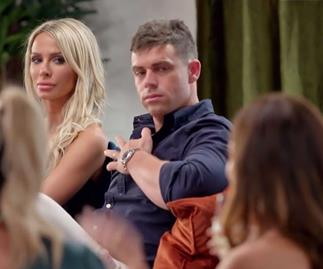 Stacey has her eye on the MAFS intruder brides at the dinner party following husband Michael's cheating scandal