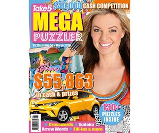 Take 5 Mega Puzzler Issue 50 Online Entry Coupon