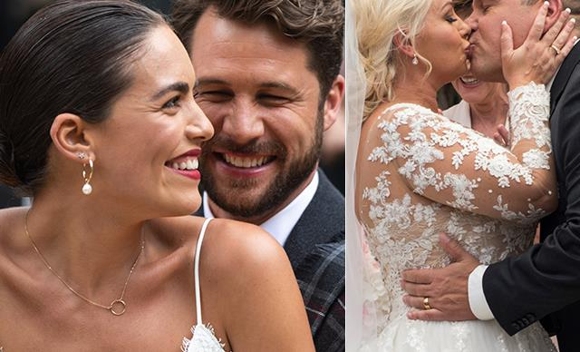 Neighbours weddings galore! Five couples tie the knot on Ramsay Street in the 35th anniversary special