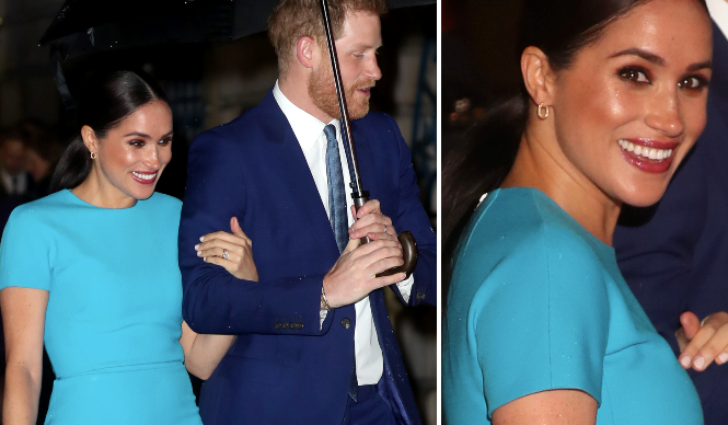 The last hurrah! Harry and Meghan glow in the rain as they make their first (and one of their last!) royal appearances together before exit