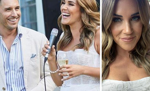 Did Georgia Love just give away her wedding dress design at her glitzy engagement party?