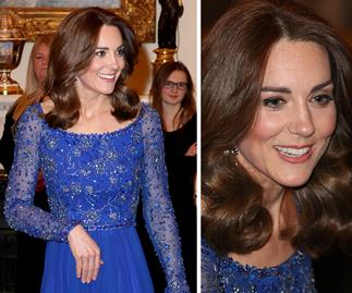 Kate Middleton steps out in the ultimate princess dress for her second glamorous appearance of the day
