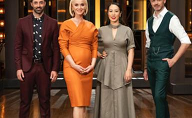 Pregnant pop star Katy Perry shows off her baby bump during surprise  MasterChef visit