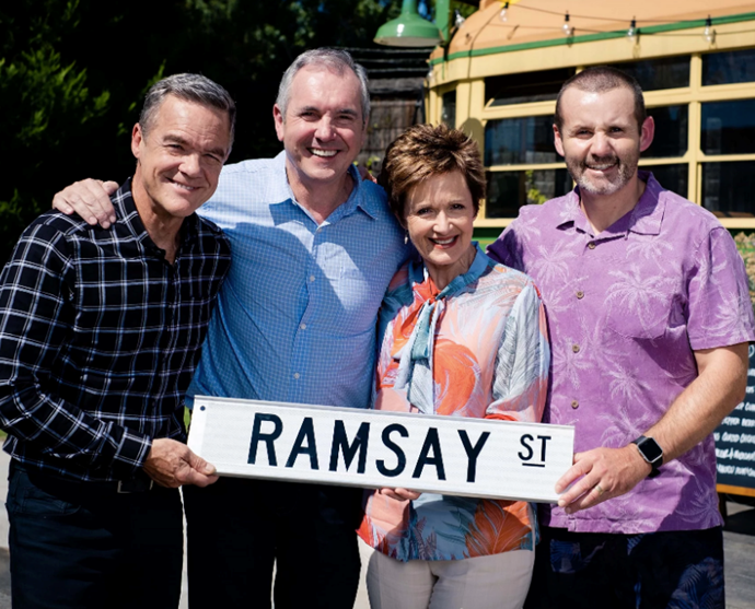 The residents of Ramsay Street were the first TV cast in the world to resume filming post-pandemic.